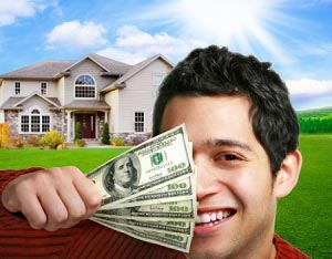 Happy Young Man Buying a Home